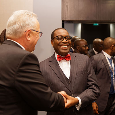 M. Akinwumi Adesina, President of ADB and Janvier Litse, GD West African Developement Bank