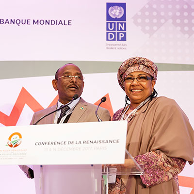 Kané Aïchatou Boulama, Minister of Planning and Albadé Abouba, Minister of Agriculture and Livestock